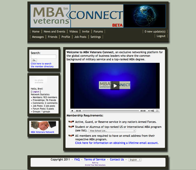 MBA Veterans CONNECT (Full Site)